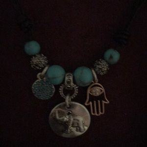 Torquoise elephant necklace